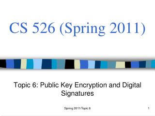 CS 526 (Spring 2011)