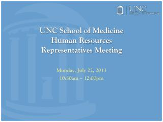 UNC School of Medicine Human Resources Representatives Meeting