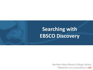 Searching with  EBSCO Discovery