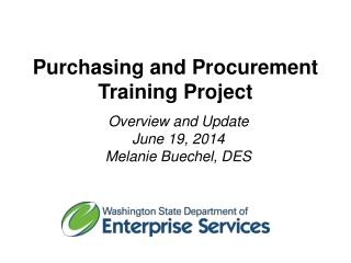 Purchasing and Procurement  Training Project