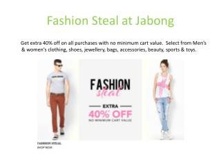 Jabong fashion steal
