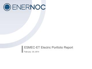 ESMEC-ET Electric Portfolio Report