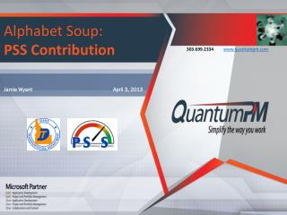 Alphabet Soup:   PSS Contribution
