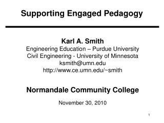 Supporting Engaged Pedagogy