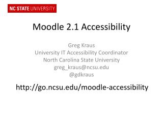 Moodle 2.1 Accessibility