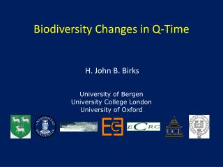 Biodiversity Changes in Q-Time