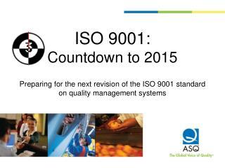 Agenda—Countdown to 2015
