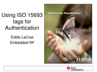 Using ISO 15693 tags for Authentication
