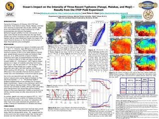 Ocean's Impact on the Intensity of Three Recent Typhoons (Fanapi, Malakas, and Megi) –