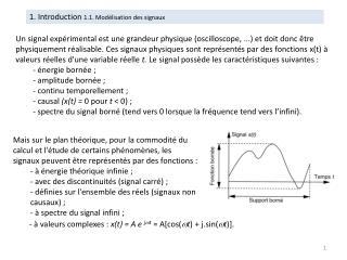 1 . Introduction  1.1 . Modélisation des signaux