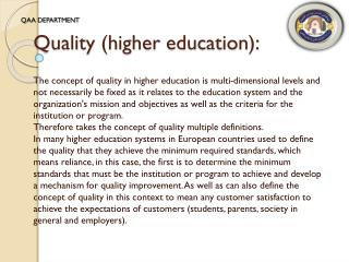 Quality (higher education):