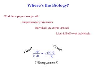 Where's the Biology?