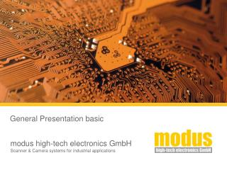modus high-tech electronics GmbH Scanner & Camera systems for industrial applications
