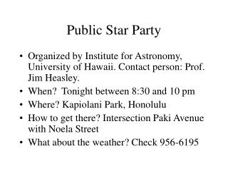 Public Star Party