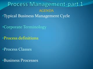 Process Management-part 1