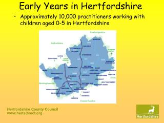 Early Years in Hertfordshire