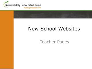 New School Websites