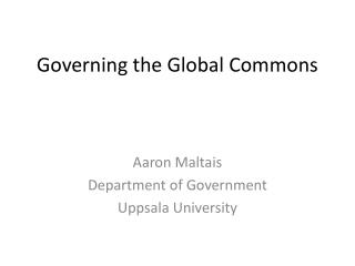 Governing the Global Commons