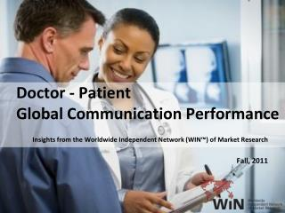 Doctor  - Patient Global Communication Performance