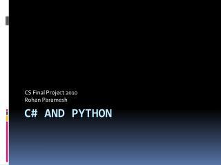 C# and Python