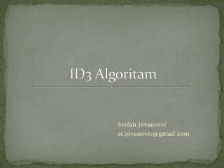 ID3 Algoritam