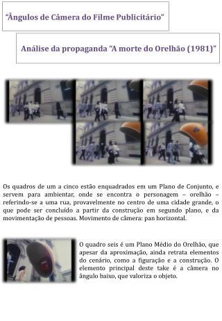 """""""Ângulos de Câmera do Filme Publicitário"""""""