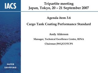 Tripartite meeting Japan, Tokyo, 20 – 21 September 2007