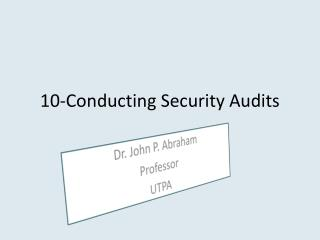 10-Conducting Security Audits