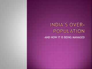 India's over-population
