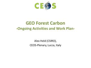 GEO Forest Carbon  -Ongoing Activities and Work Plan-