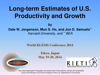 Long-term Estimates of U.S.  Productivity and Growth