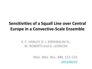 Sensitivities of a Squall Line over Central Europe in a Convective-Scale Ensemble