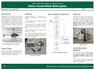 CMPE 450/490 Capstone  Design Project Voice Controlled Helicopter