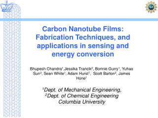 Carbon Nanotube Films: Fabrication Techniques, and applications in sensing and energy conversion