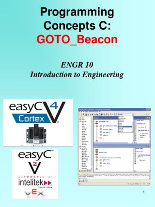 Programming Concepts C: GOTO_Beacon ENGR 10 Introduction to Engineering