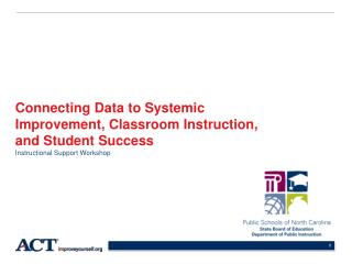 Connecting Data to Systemic Improvement, Classroom Instruction, and Student Success