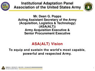 Institutional Adaptation Panel Association of the United States Army