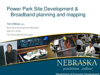 Power Park Site Development & Broadband planning and mapping Tim O'Brien,  M.A.