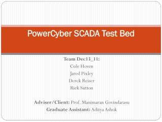 PowerCyber  SCADA Test Bed