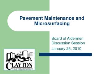 Pavement Maintenance and Microsurfacing