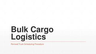 Bulk Cargo Logistics