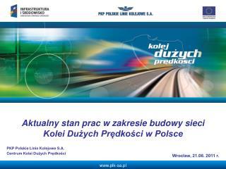 Aktualny stan prac w zakresie budowy sieci Kolei Dużych Prędkości w Polsce
