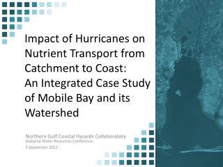 Northern Gulf Coastal Hazards Collaboratory