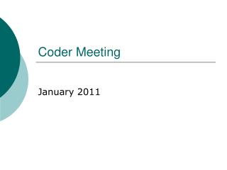 Coder Meeting