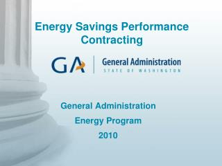 General Administration Energy Program 2010