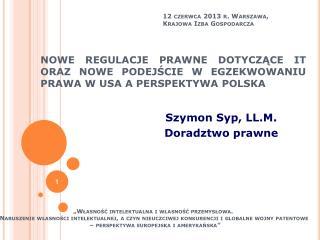 Szymon Syp, LL.M. Doradztwo prawne