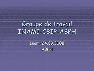 Groupe de travail INAMI-CBIP-ABPH