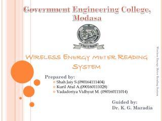 Wireless Energy Meter Reading System