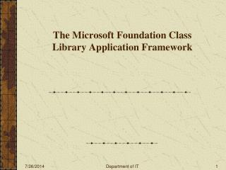 The Microsoft Foundation Class Library Application Framework