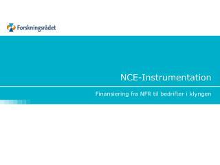 NCE-Instrumentation